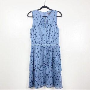 Banana Republic Blue Polka Dot Ruffles Dress